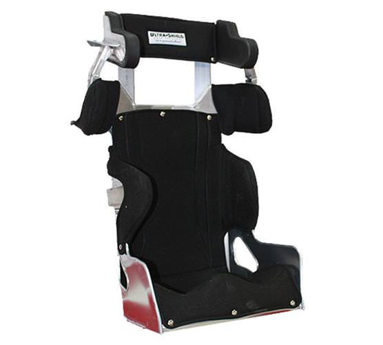 Ultra Shield Seat, Economy Full Containment Halo, 16 in Wide, 20 Degree Layback, Snap Cover Included, Aluminum, Natural