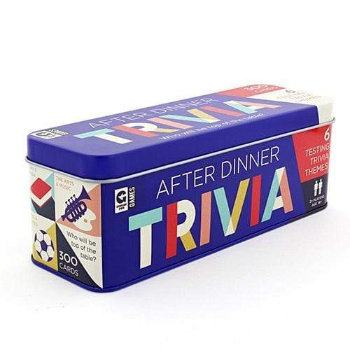 After Dinner Trivia Tin Ginger Fox Board Games