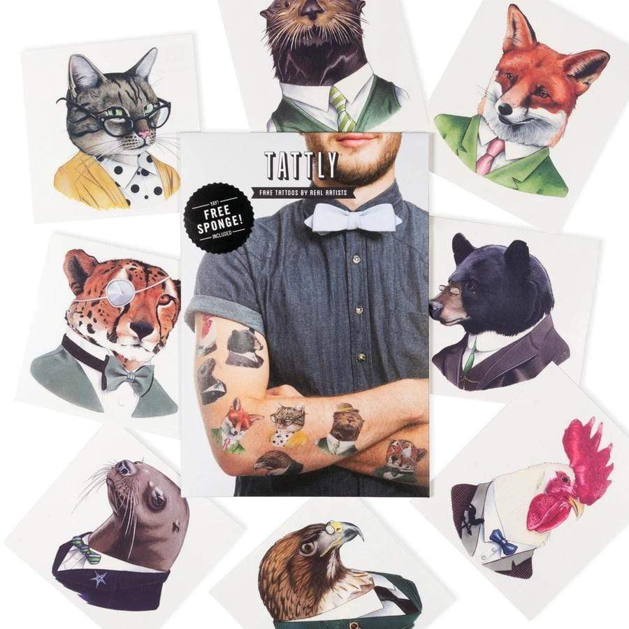 Animal Society Tattoo Set Tattly Art Supplies