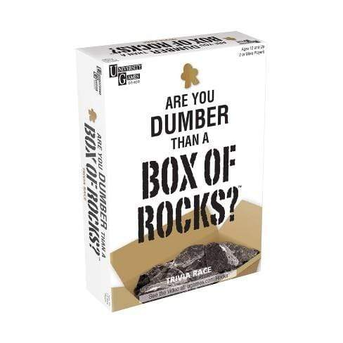 Are You Dumber Than A Box Of Rocks? University Games Board Games