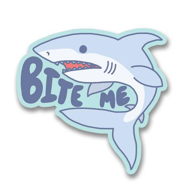 Bite Me vinyl sticker Turtle's Soup Paper Products