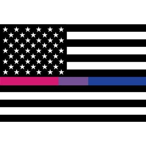 Black, White, Bisexual American Flag Sticker Rainbow Depot Paper Products