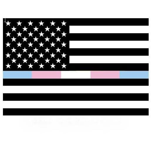 Black, White, Transgender American Flag Sticker Rainbow Depot Paper Products