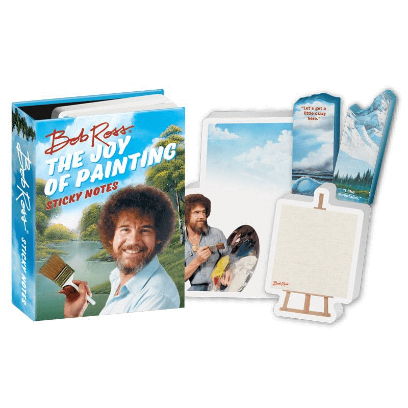 Bob Ross Sticky Notes Unemployed Philosophers Guild Paper Products