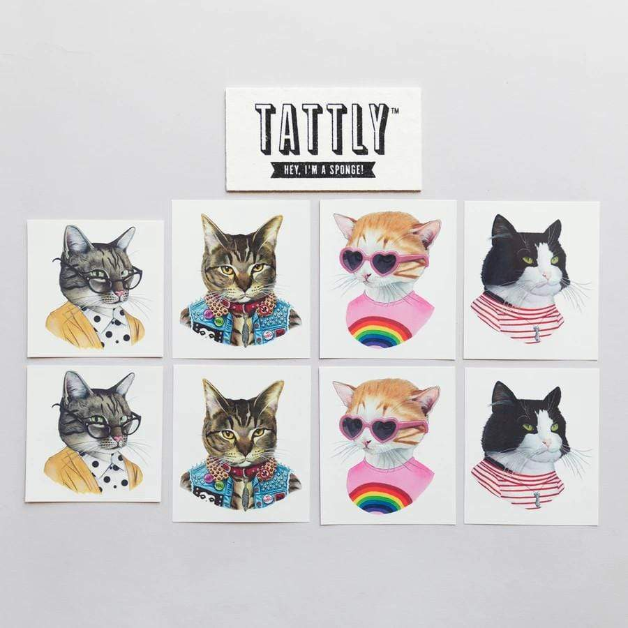 Cat Club Tattoo Set Tattly Art Supplies