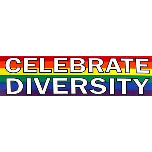 Celebrate Diversity Sticker Rainbow Depot Paper Products