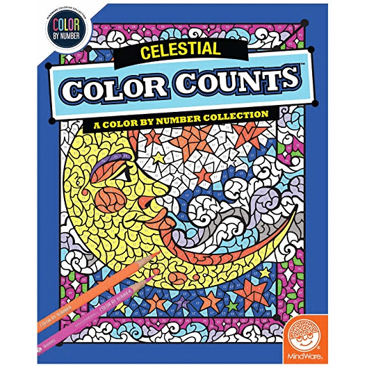 Color Counts: Celestial color by number Mindware Art Supplies