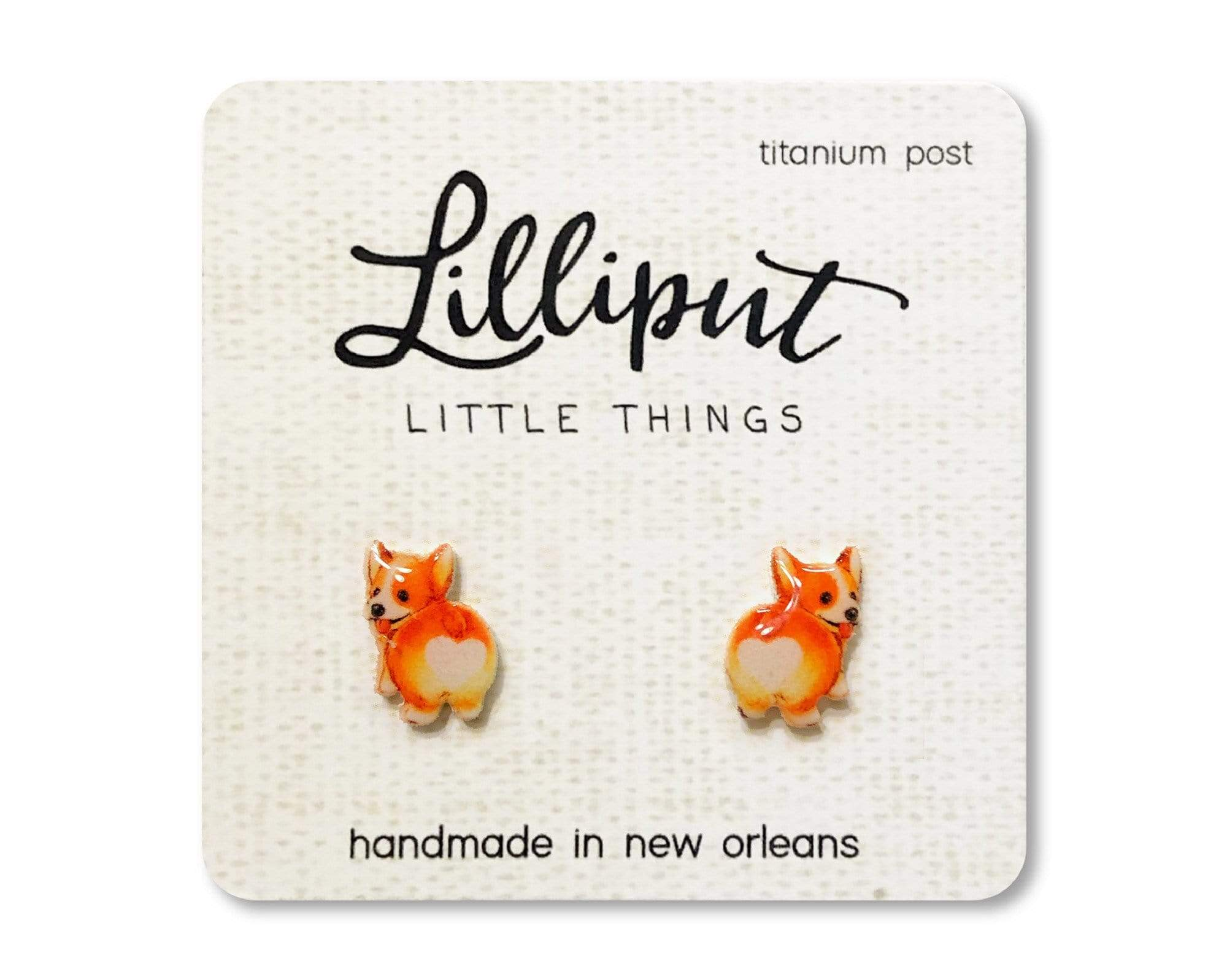 Corgi Butt Earrings Lilliput Little Things Clothing/Accessories