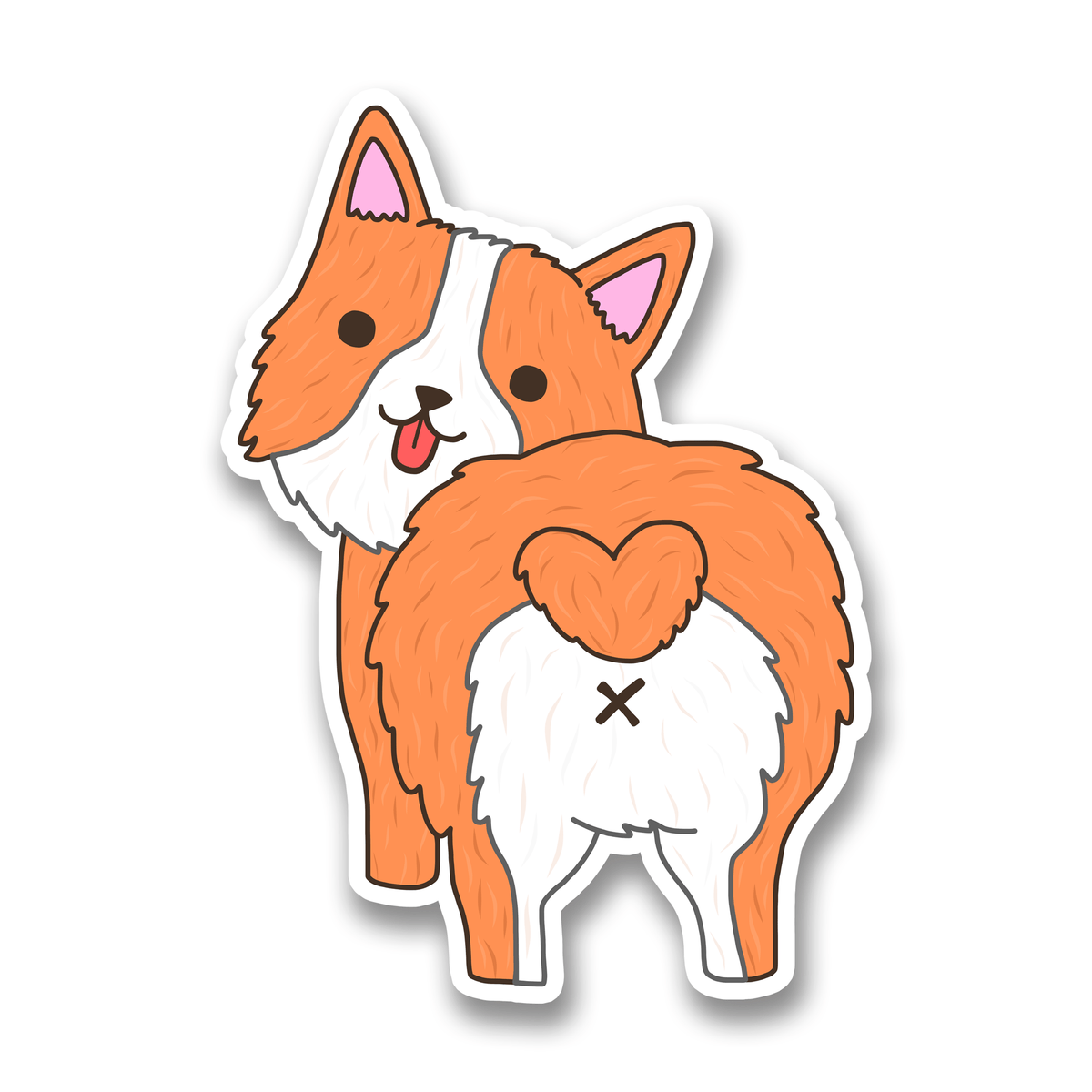 Corgi Heart Butt vinyl sticker Turtle's Soup Paper Products