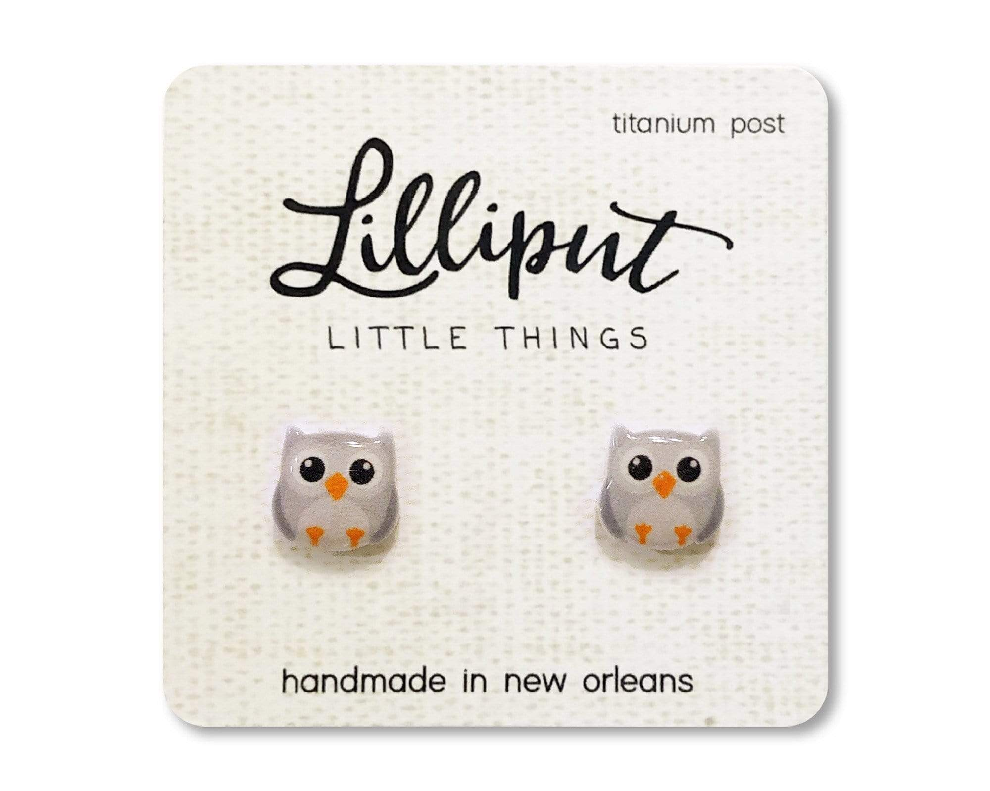 Cute Owl Earrings Lilliput Little Things Clothing/Accessories
