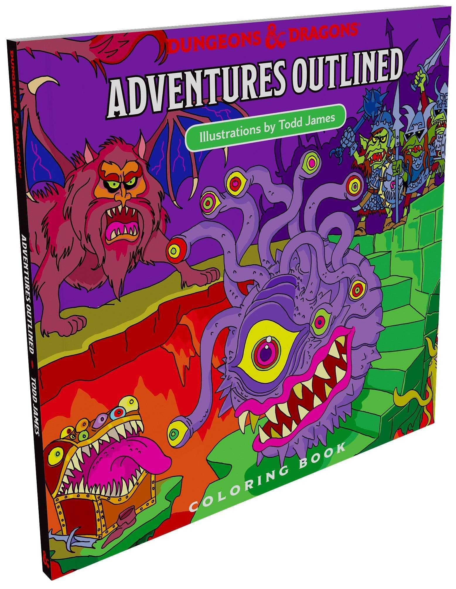 D&D: Adventures Outlined Coloring Book Wizards of the Coast Books