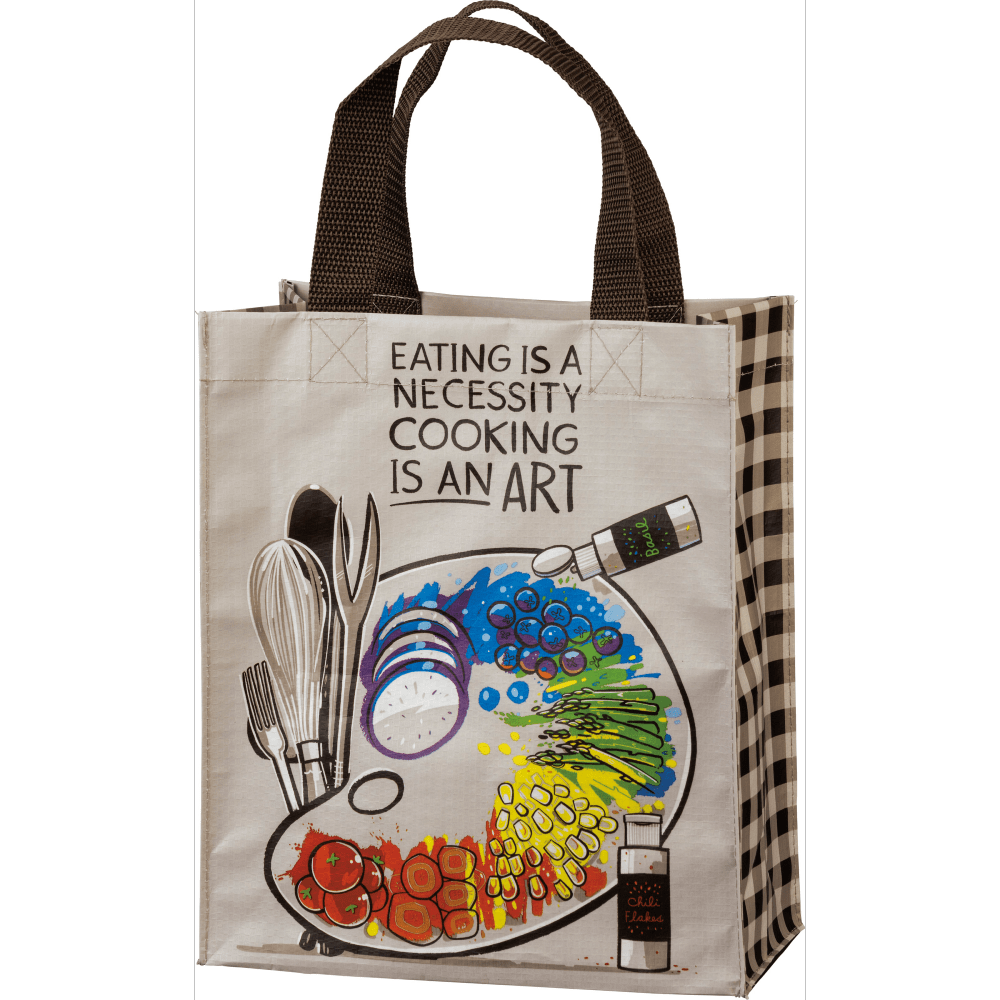 Daily Tote - Cooking Is An Art Primitives By Kathy Home Decor/Kitchenware