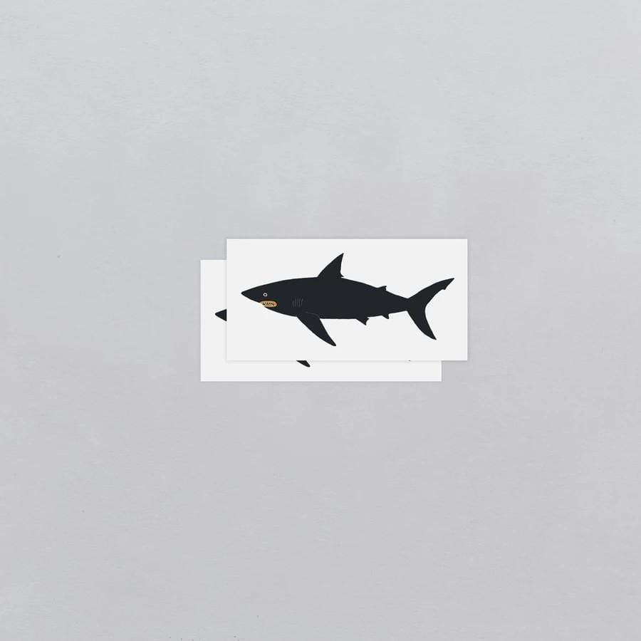 Dark Waters Shark Tattoo Pair Tattly Art Supplies