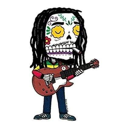 Day of the Dead Sticker: Bob Marley Fresh Prints Of Ct Paper Products