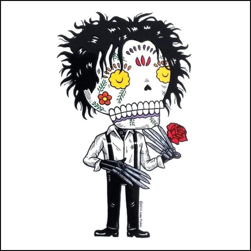 Day of the Dead Sticker: Edward Scissorhands Fresh Prints Of Ct Paper Products