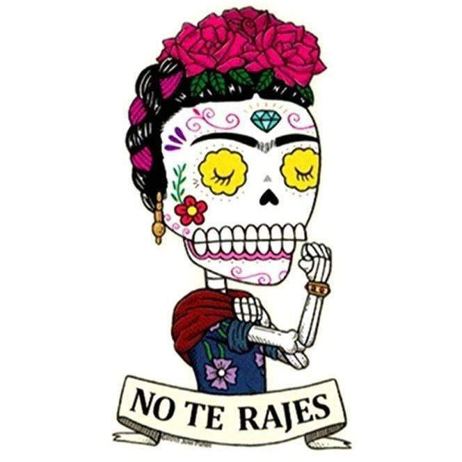 Day of the Dead Sticker: Frida No Te Rajes Fresh Prints Of Ct Paper Products