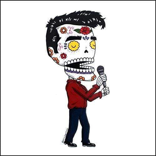 Day of the Dead Sticker: Morrissey-The Smiths Fresh Prints Of Ct Paper Products