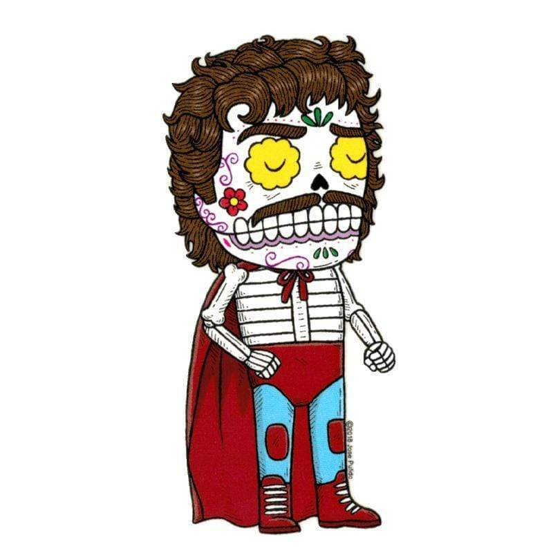 Day of the Dead Sticker: Nacho Libre Fresh Prints Of Ct Paper Products