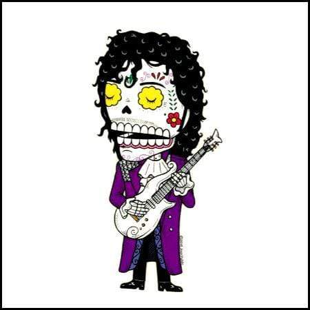 Day of the Dead Sticker: Prince Fresh Prints Of Ct Paper Products