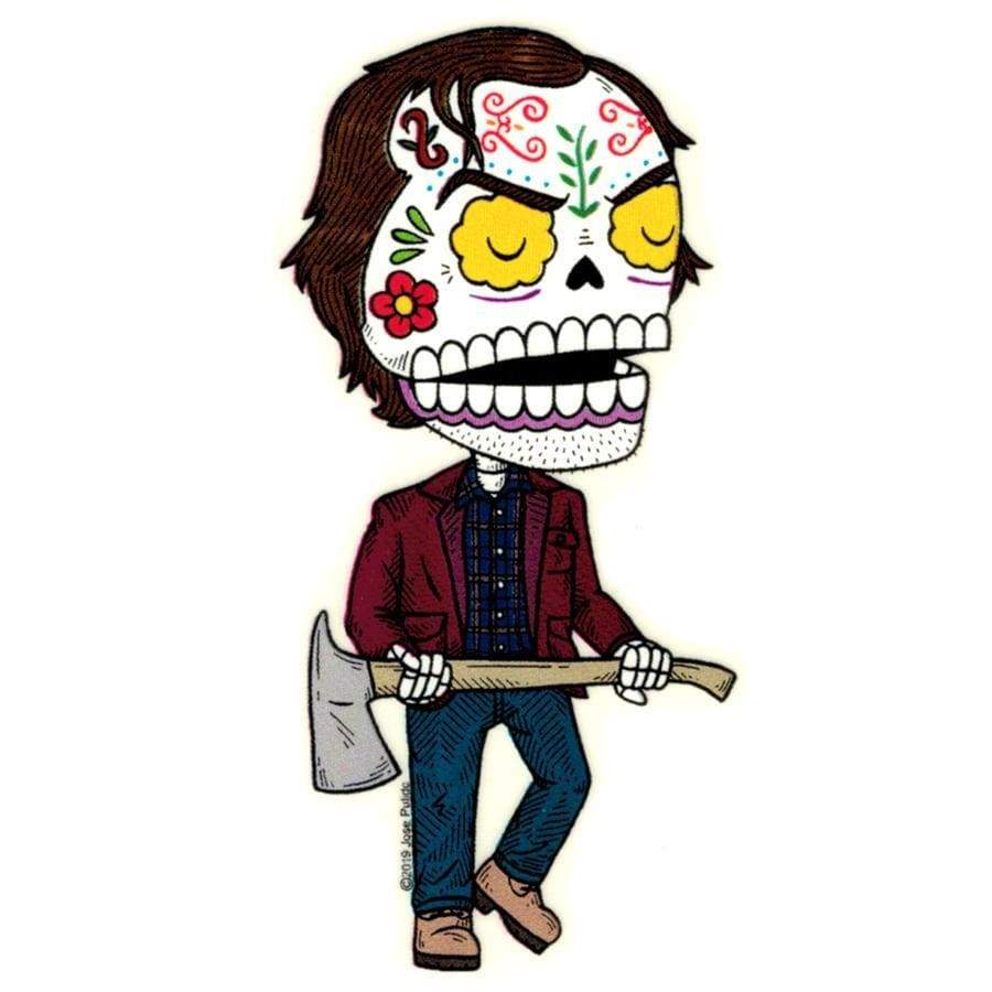 Day of the Dead Sticker: Shining Jack Fresh Prints Of Ct Paper Products