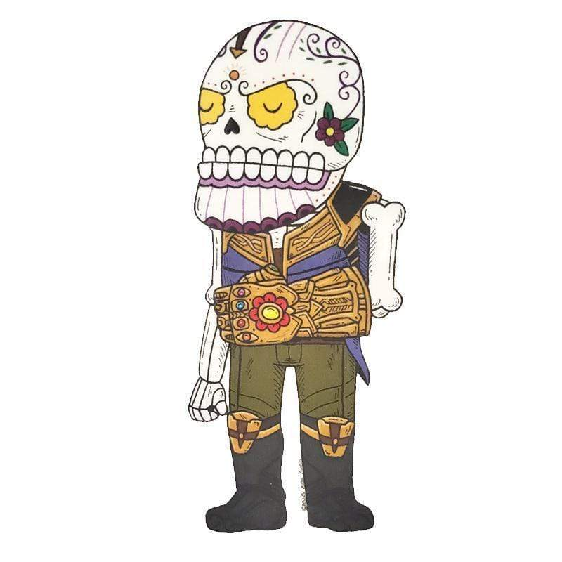 Day of the Dead Sticker: Thanos Fresh Prints Of Ct Paper Products