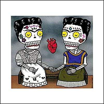 Day of the Dead Sticker: The Two Fridas Fresh Prints Of Ct Paper Products