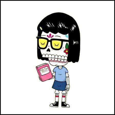 Day of the Dead Sticker: Tina Belcher Fresh Prints Of Ct Paper Products