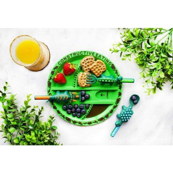 Dino Plate Constructive Eating Home Decor/Kitchenware
