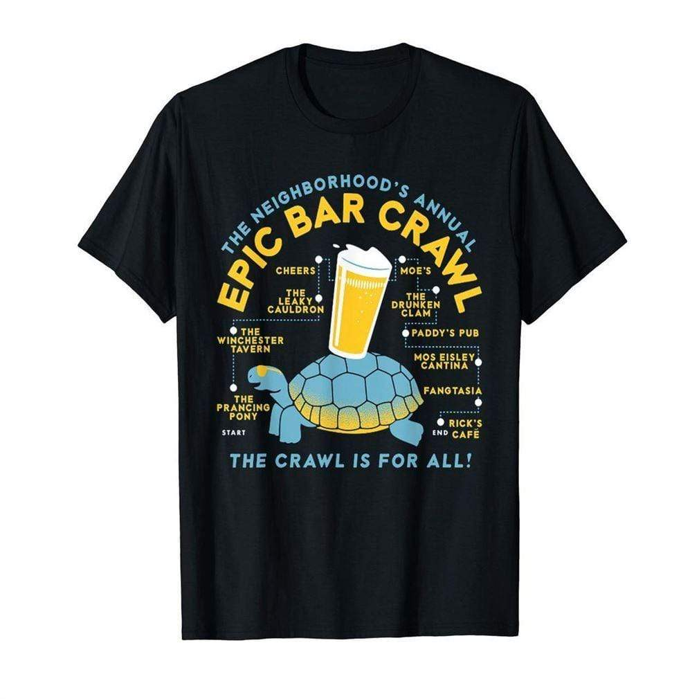 Epic Bar Crawl shirt Snorgtees Clothing/Accessories
