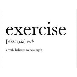 Exercise - 5x7 framed definition print Footnote Studio Home Decor/Kitchenware