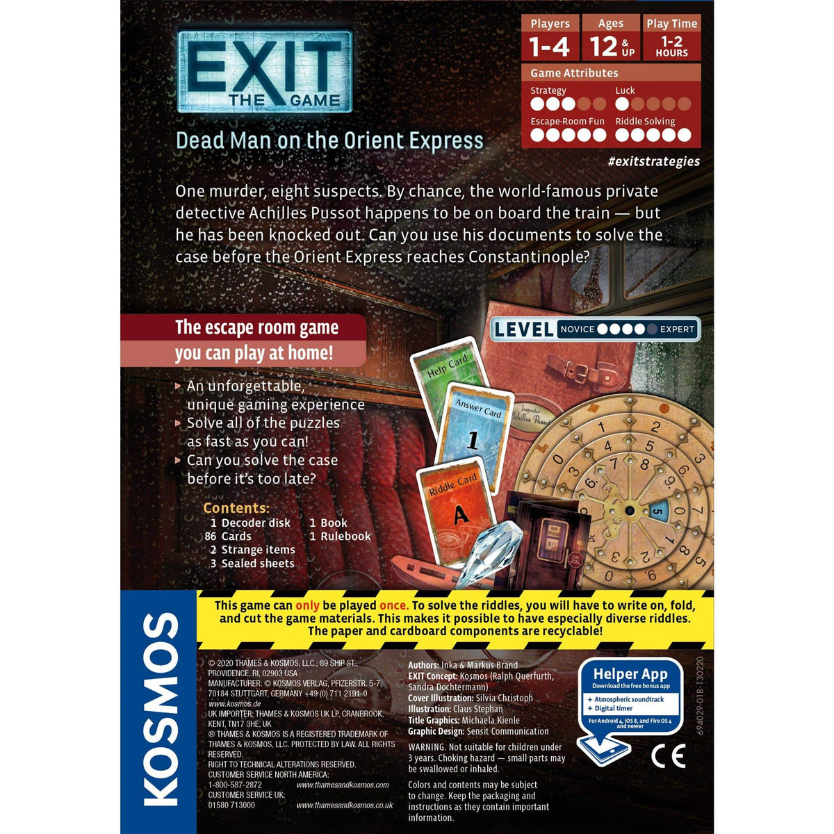 Exit: Dead Man on the Orient Express Thames & Kosmos Board Games