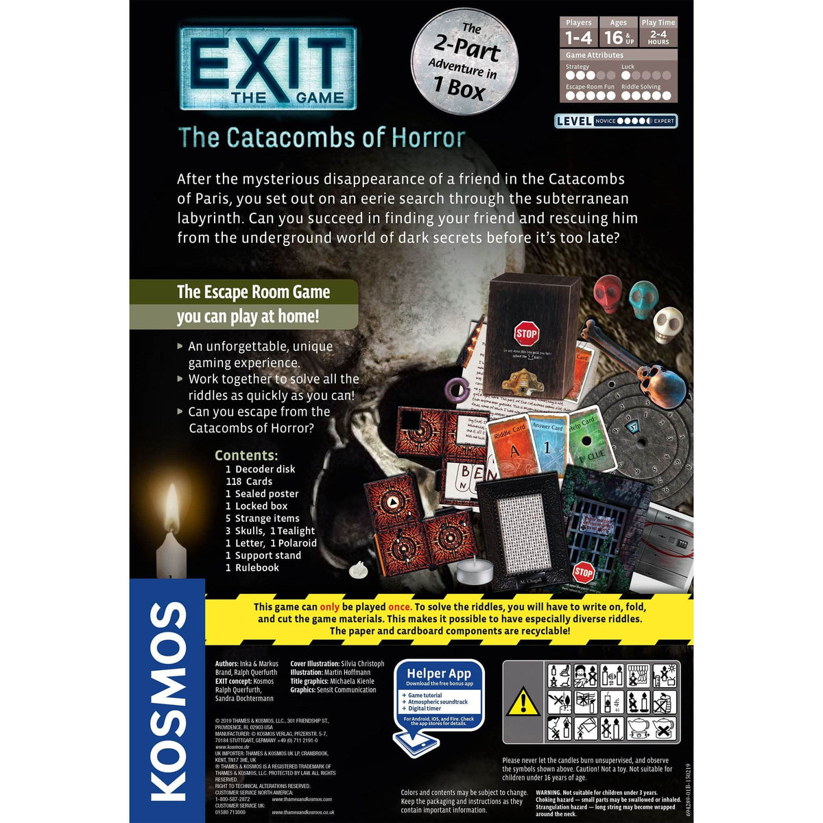 Exit: The Catacombs of Horror Thames & Kosmos Board Games
