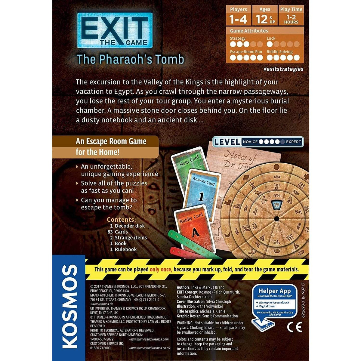 Exit: The Pharaoh's Tomb Thames & Kosmos Board Games