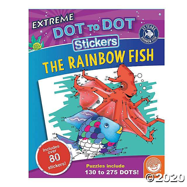 Extreme Dot to Dot Stickers: The Rainbow Fish Mindware Art Supplies
