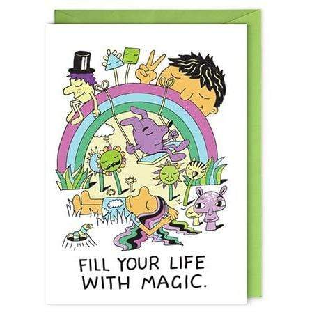 Fill Your Life With Magic card Nelson Line Paper Products