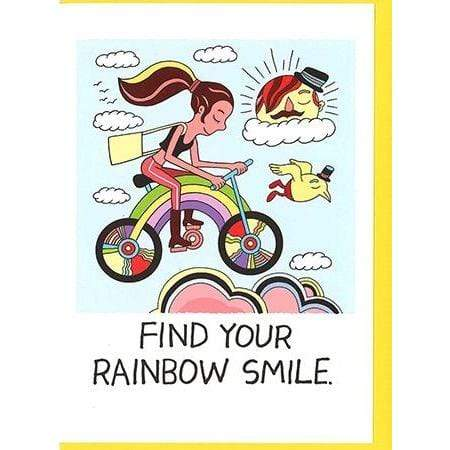 Find Your Rainbow Smile card Nelson Line Paper Products