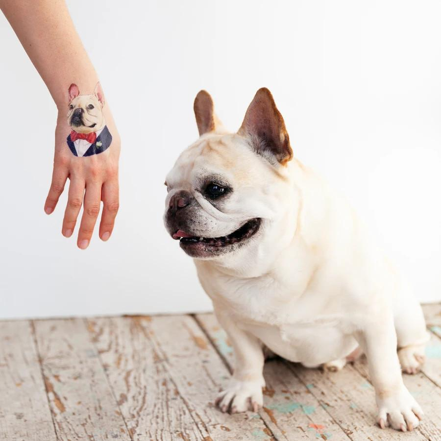 French Bulldog Tattoo Pair Tattly Art Supplies