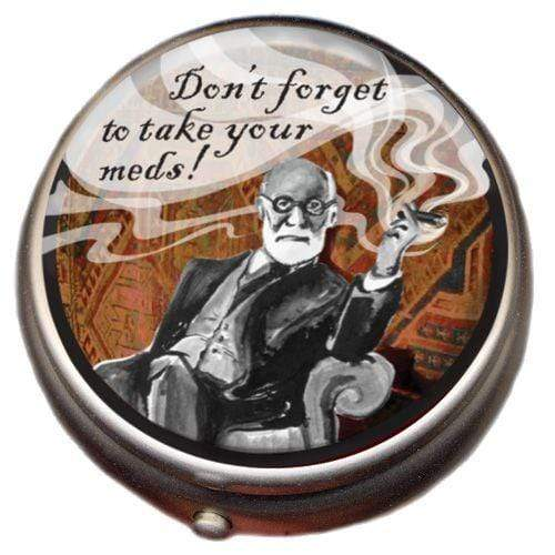 Freud Pill Box Unemployed Philosophers Guild Home Decor/Kitchenware