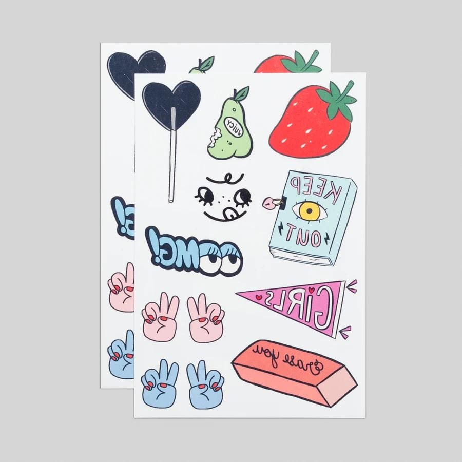 Girl Gang Tattoo Sheet Tattly Art Supplies
