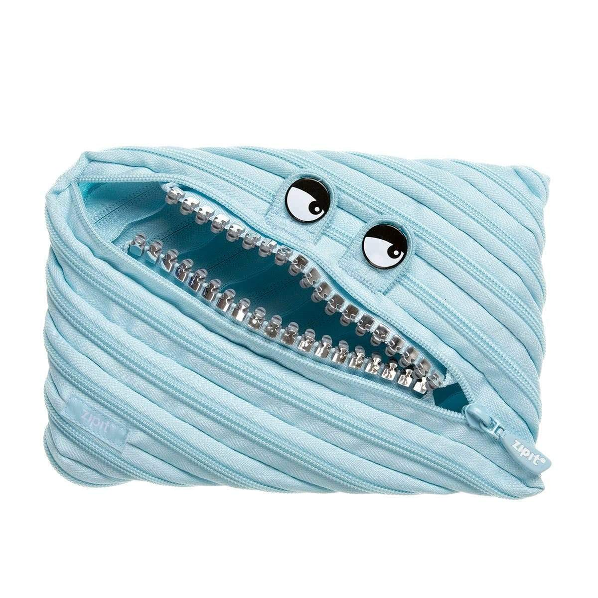 Grillz Monster Jumbo Pouch: Blue ZipIt Clothing/Accessories