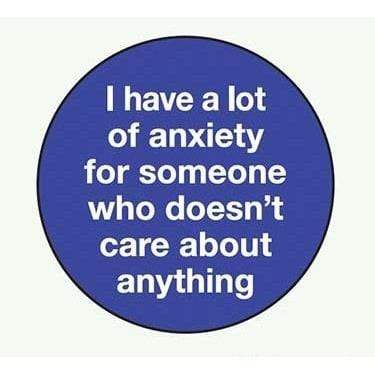 I have a lot of anxiety for someone... magnet Ephemera Home Decor/Kitchenware