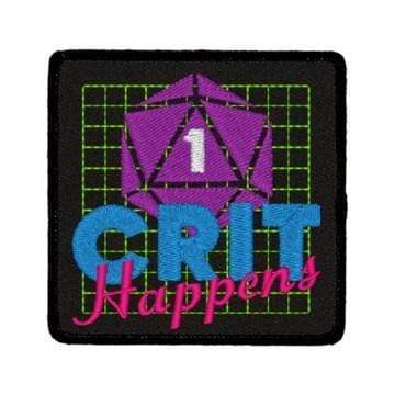 Iron-On Patch: Crit Happens Red King Company Clothing/Accessories
