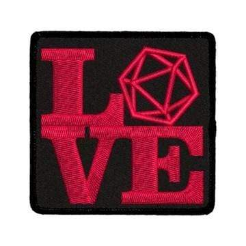 Iron-On Patch: Love D20 Red King Company Clothing/Accessories