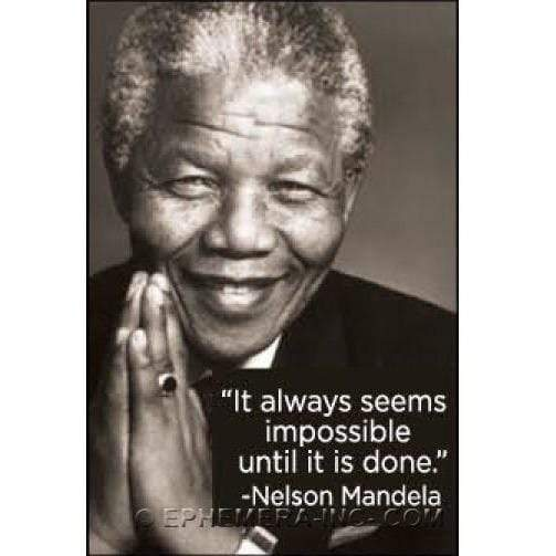 It always seems impossible until it is done.-Nelson Mandela magnet Ephemera Home Decor/Kitchenware