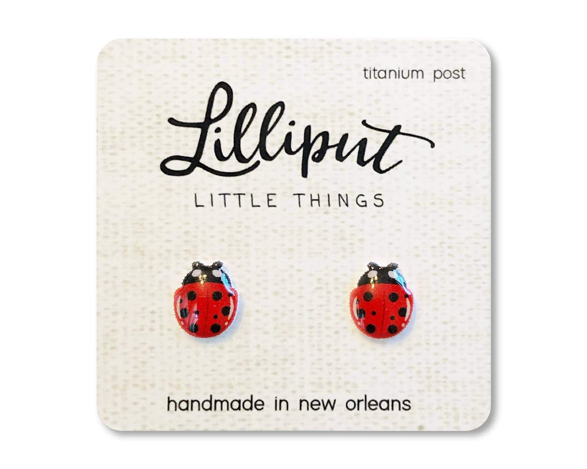 Ladybug Earrings Lilliput Little Things Clothing/Accessories