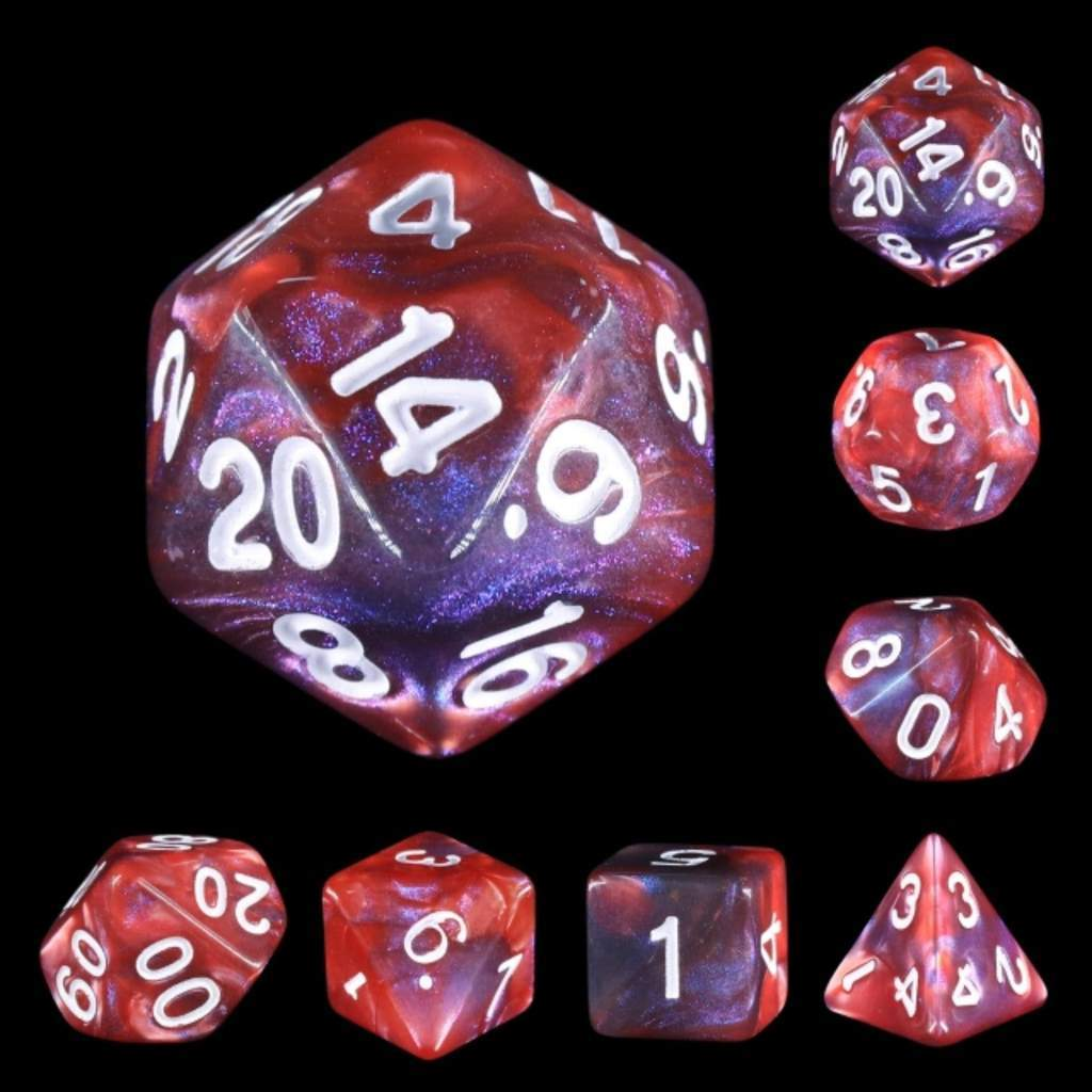 Lava Galaxy dice set HD Dice / Hengda Mfg. Puzzles/Playthings