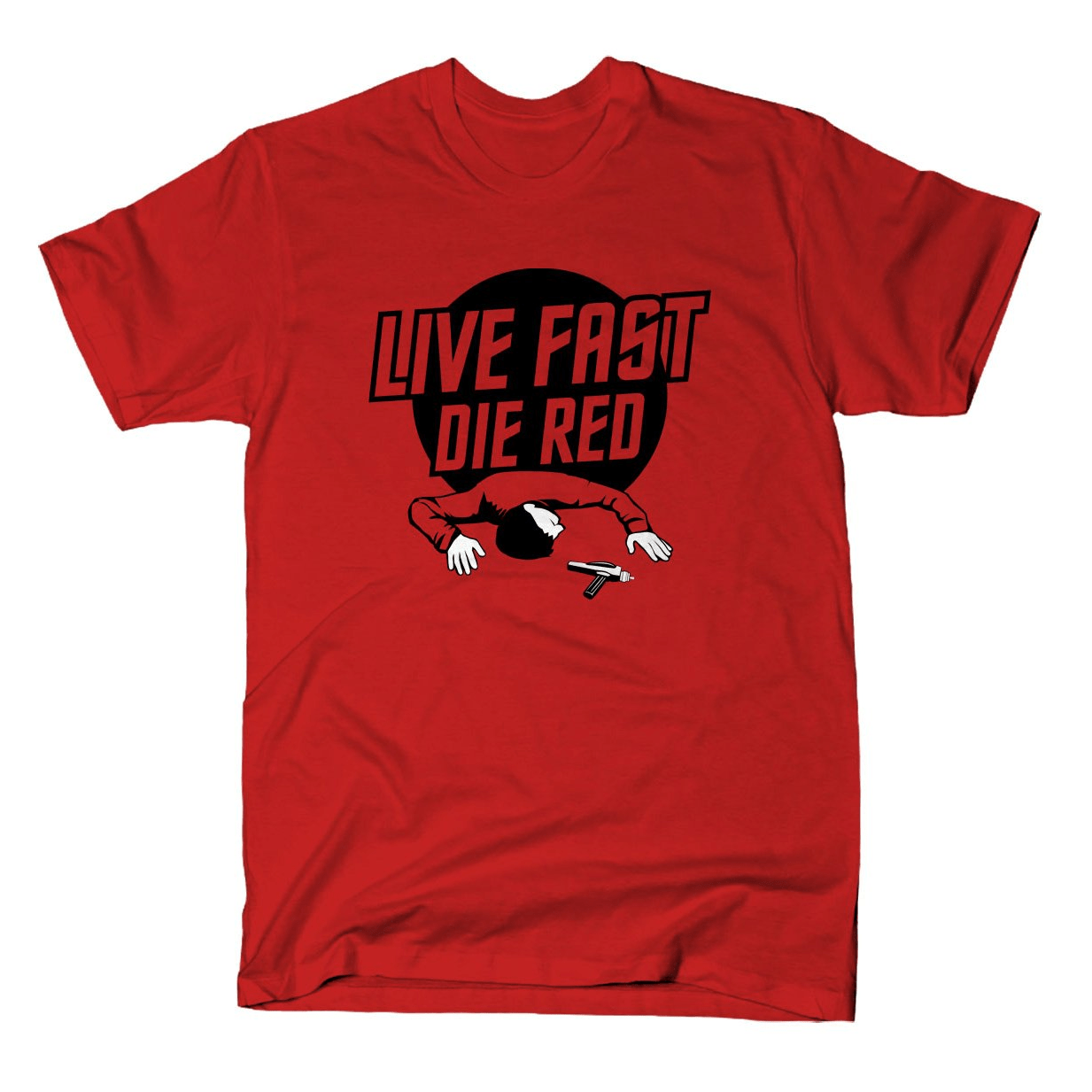 Live Fast Die Red shirt Snorgtees Clothing/Accessories