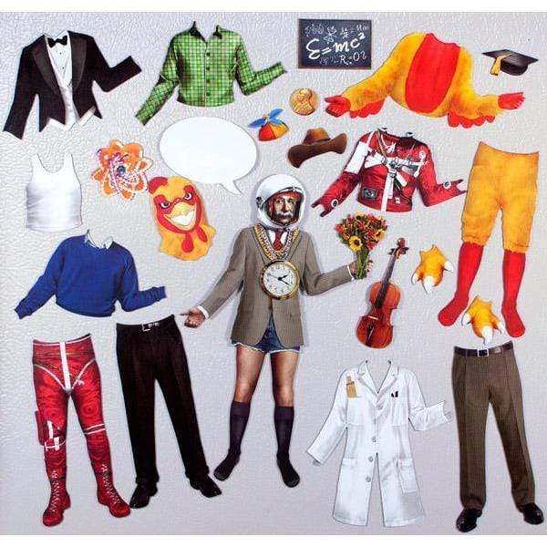 Magnetic Dress-Up: Einstein's Ensembles Unemployed Philosophers Guild Paper Products