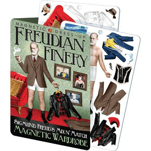 Magnetic Dress-Up: Freudian Finery Unemployed Philosophers Guild Paper Products