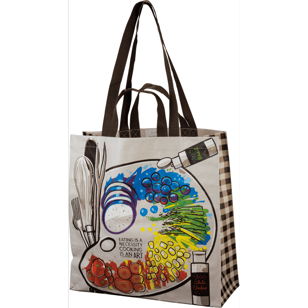 Market Tote - Cooking Is An Art Primitives By Kathy Home Decor/Kitchenware